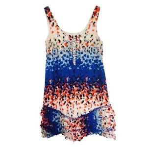 Multi-color ruffle dress